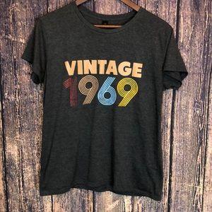 ANVIL vintage 1969 gray short sleeve T-shirt